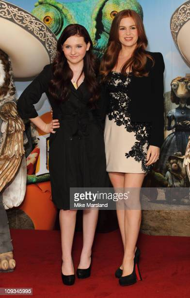 Abigail Breslin and Isla Fisher promotes the Paramount Pictures' film 'Rango' at Claridge's Hotel on February 22 2011 in London England