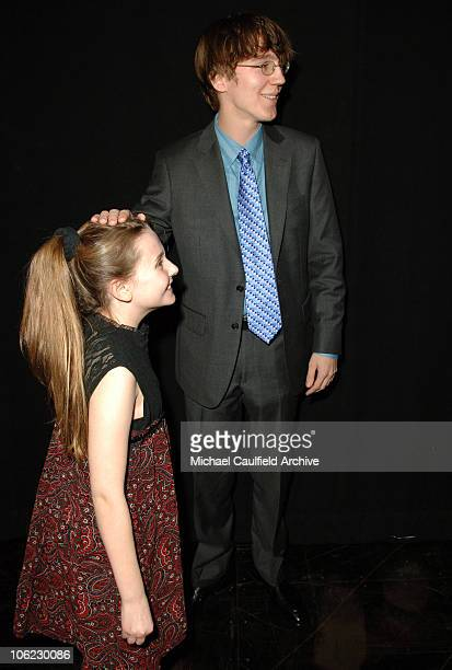 Abigail Breslin and Paul Dano during 12th Annual Critics' Choice Awards Backstage and Audience at Santa Monica Civic Auditorium in Santa Monica...