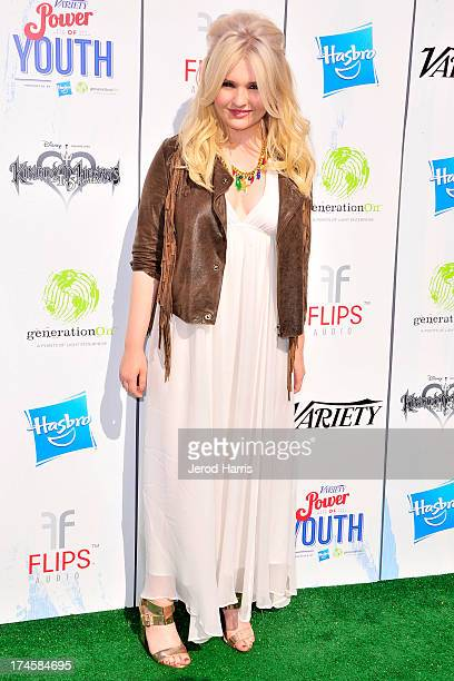 Abigail Breslin arrives at Variety's 7th Annual Power of Youth Event at Universal Studios Hollywood on July 27 2013 in Universal City California
