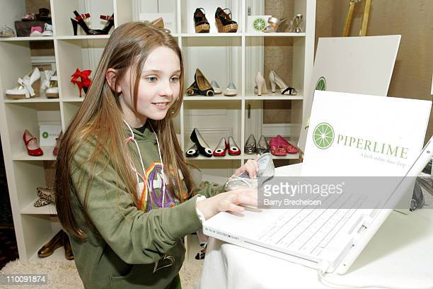 Abigail Breslin at piperlime during The 2007 Luxury Lounge Presents Marie Claire Fashion Closet Day 2 at Four Seasons in Beverly Hills California...