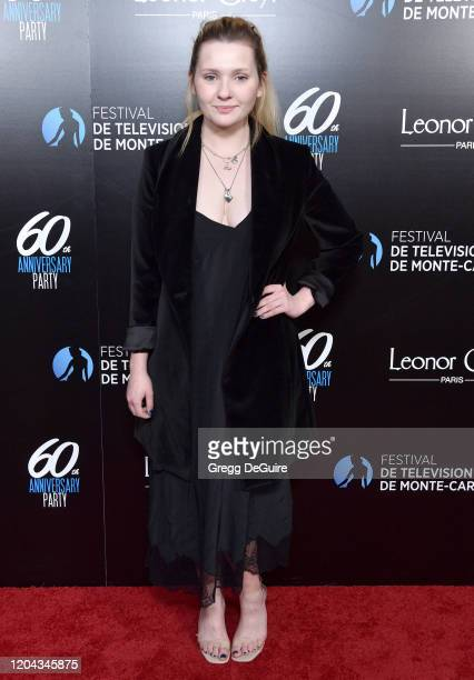 Abigail Breslin attends the 60th Anniversary party for the Monte-Carlo TV Festival at Sunset Tower Hotel on February 05, 2020 in West Hollywood,...