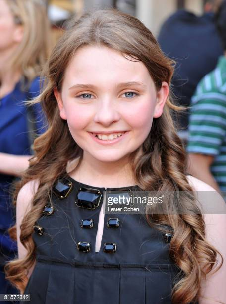 Abigail Breslin attends the premiere of Kit Kittredge An American Girl at The Grove on June 14 2008 in Los Angeles California