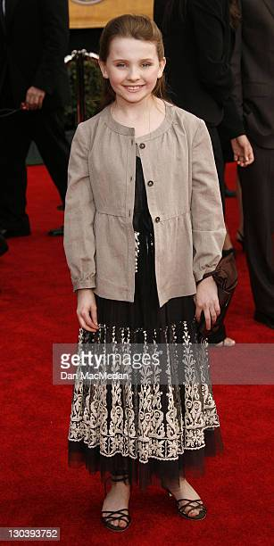 Abigail Breslin during 13th Annual Screen Actors Guild Awards - Arrivals at Shrine Auditorium in Los Angeles, California, United States.