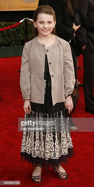 Abigail Breslin during 13th Annual Screen Actors Guild Awards Arrivals at Shrine Auditorium in Los Angeles California United States