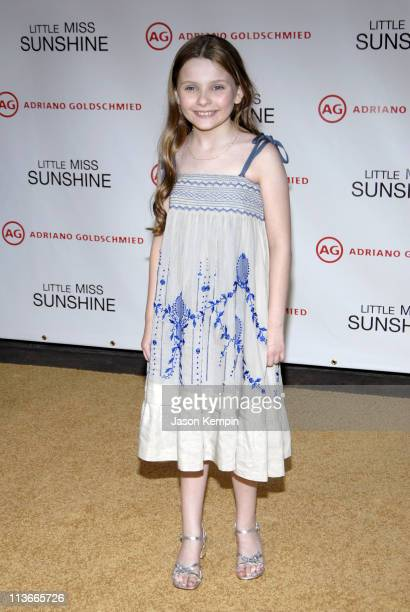 Abigail Breslin during Little Miss Sunshine New York Premiere Inside Arrivals at AMC Loews Lincoln Square in New York City New York United States