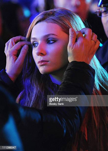 Abigail Breslin on location for New Years Eve in Manhattan on March 30 2011 in New York City