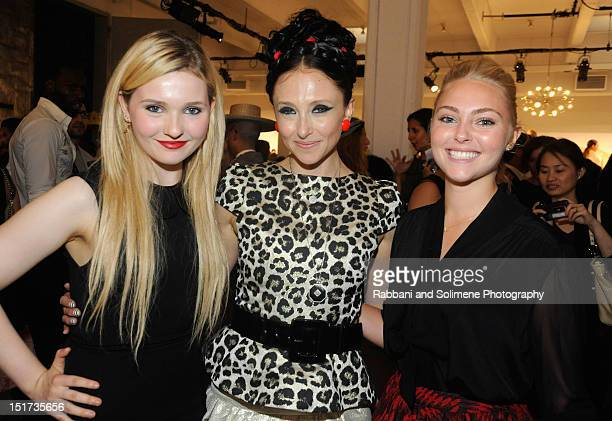 Abigail Breslin Stacey Bendet and AnnaSophia Robb attend Alice Olivia By Stacey Bendet Spring 2013 Presentation during MercedesBenz Fashion Week at...
