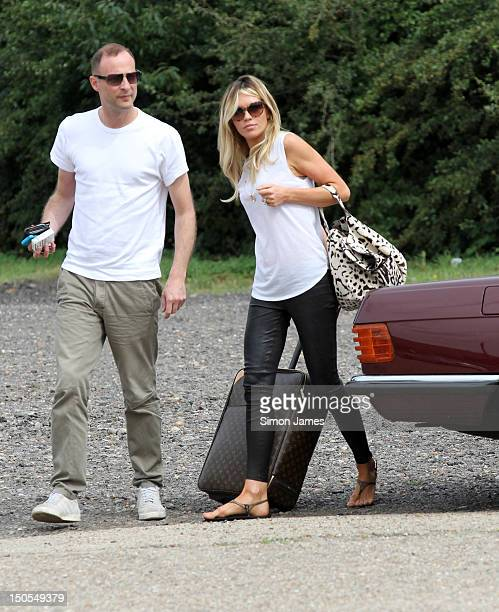 Abigail Clancy sighting arriving at a stables for a photoshoot on August 21 2012 in London England