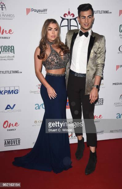 Abigail Clarke and Junaid Ahmed attend The Asian Awards 2018 held at London Hilton on April 27 2018 in London England