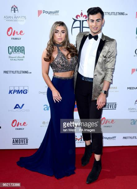 Abigail Clarke and Junaid Ahmed attending the 8th Annual Asian Awards held at the Hilton Hotel Park Lane London
