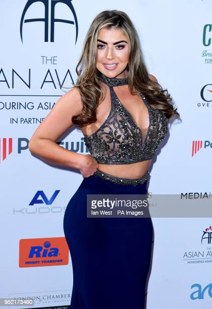 Abigail Clarke attending the 8th Annual Asian Awards held at the Hilton Hotel Park Lane London