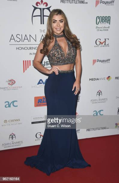 Abigail Clarke attends The Asian Awards 2018 held at London Hilton on April 27 2018 in London England
