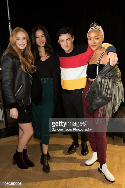 Abigail Cowen Adeline Rudolph Gavin Leatherwood and Tati Gabrielle attend the special preview of Netflix's original series 'Chilling Adventures of...
