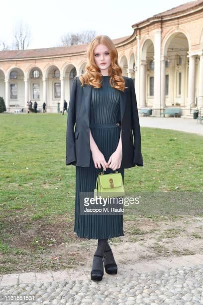 Abigail Cowen attend the Salvatore Ferragamo show during Milan Fashion Week Autumn/Winter 2019/20 on February 23 2019 in Milan Italy