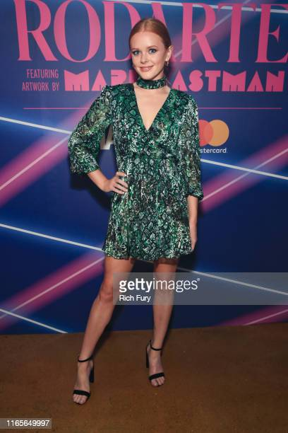 Abigail Cowen attends a limited edition capsule presentation by Rodarte featuring artwork by Mari Eastman and hosted by Made and Mastercard at Milk...