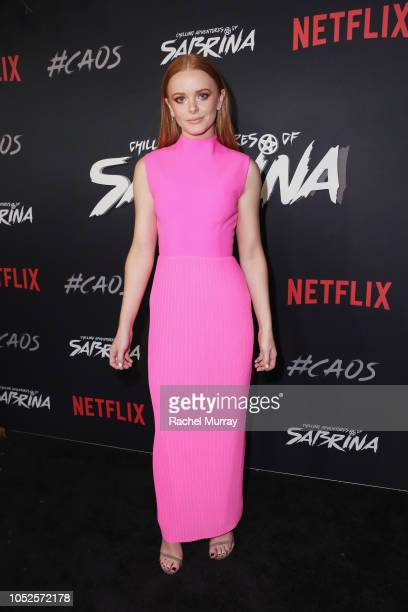 Abigail Cowen attends Netflix Original Series 'Chilling Adventures of Sabrina' red carpet and premiere event on October 19 2018 in Los Angeles...