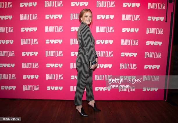 Abigail Cowen attends the premiere week screening of SYFY's 'Deadly Class' hosted by Kevin Smith at The Wilshire Ebell Theatre on January 14 2019 in...