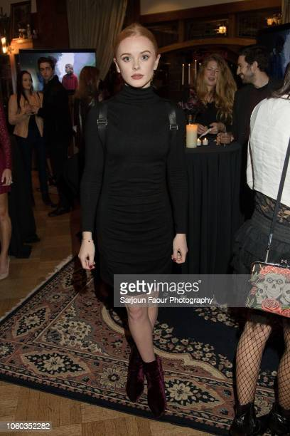 Abigail Cowen attends the special preview of Netflix's original series 'Chilling Adventures of Sabrina' at the Spellman House in October 27 2018 in...