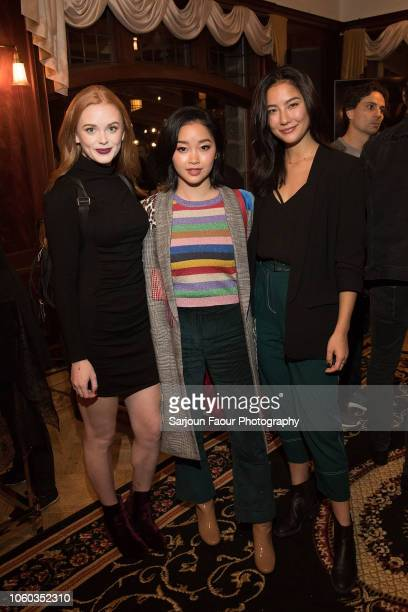 Abigail Cowen Lana Condor and Adeline Rudolph attend the special preview of Netflix's original series 'Chilling Adventures of Sabrina' at the...