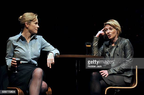 Abigail Cruttenden as Angela and Lisa Dillon as Lucy in David Eldridge's The Knot Of The Heart at the Almeida Theatre in London