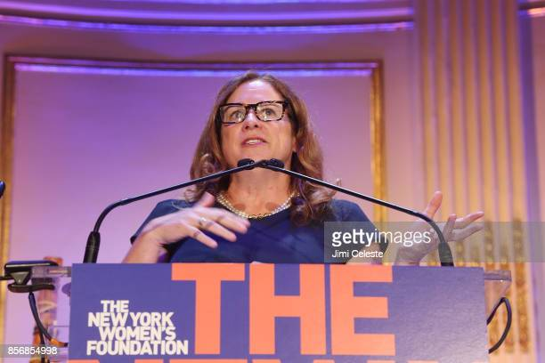 Abigail Disney attend The New York Women's Foundation 2017 Fall Gala at The Plaza Hotel on October 2 2017 in New York City