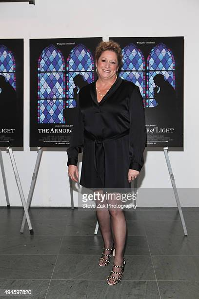Abigail Disney attends The Armor Of Light New York Premiere at the Celeste Bartos Theater at the Museum of Modern Art on October 27 2015 in New York...