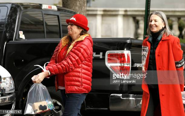 """Abigail Disney is arrested by the Capitol Police outside the Russell US Senate office building during """"Fire Drill Friday"""" climate change protest on..."""