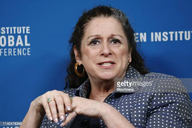 Abigail Disney president and chief executive officer of Fork Films speaks during the Milken Institute Global Conference in Beverly Hills California...