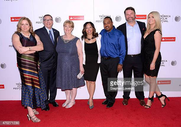 Abigail Disney Rob Schenck Cheryl Schenck Lucia McBath Curtis McBath John Phillips and Angela Phillips attend the premiere of The Armor Of Light...