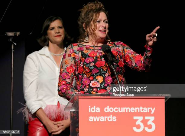 Abigail Disney speaks onstage at the 33rd Annual IDA Documentary Awards at Paramount Theatre on December 9 2017 in Los Angeles California