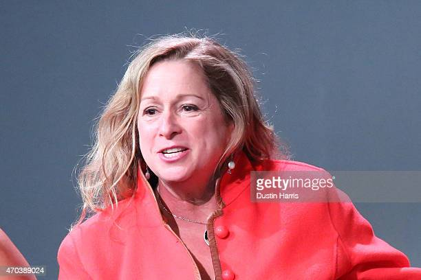 Abigail E Disney attends The Apple Store Soho Presents Tribeca Film Festival 'The Armor of Light' at Apple Store Soho on April 19 2015 in New York...