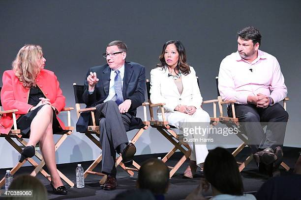 "Abigail E. Disney, Reverend Rob Schenck, Lucy McBath and John M. Phillips attend The Apple Store Soho Presents Tribeca Film Festival: ""The Armor of..."