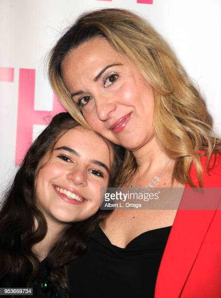 Abigail Haley poses with her mother Alexis Blinder a luncheon in honor of Mother's Day for the release of Pamela L Newton's 'A Candle For My Mother'...