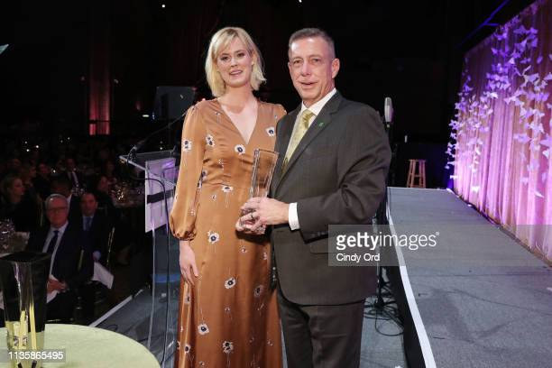 Abigail Hawk and Leadership Award honoree TD Bank New York Market President Peter M Meyer pose during the 2019 2nd Annual ADAPT Leadership Awards at...