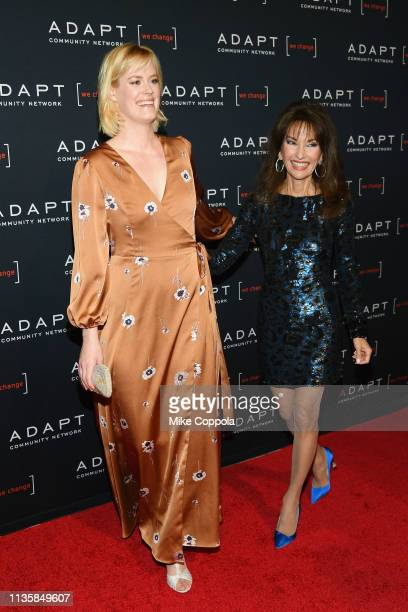 Abigail Hawk and Susan Lucci attend the The 2019 2nd Annual ADAPT Leadership Awards at Cipriani 42nd Street on March 14 2019 in New York City