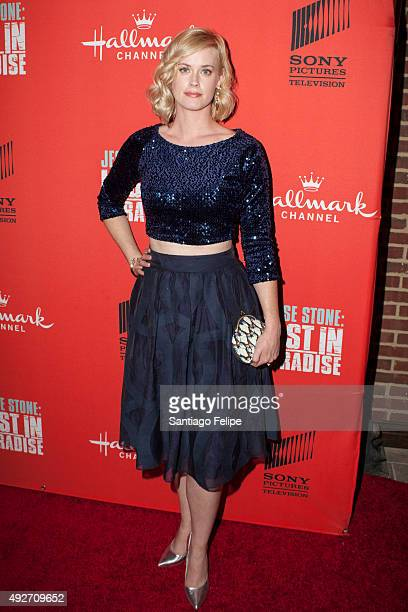Abigail Hawk attends 'Jess Stone Lost In Paradise' New York Premiere at Roxy Hotel on October 14 2015 in New York City