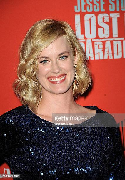 Abigail Hawk attends Jesse Stone Lost In Paradise New York premiere at Roxy Hotel on October 14 2015 in New York City