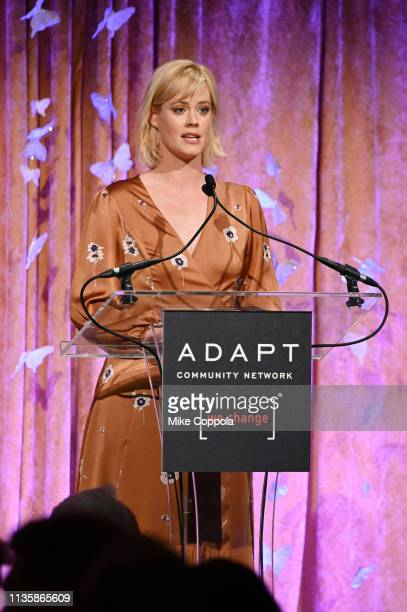 Abigail Hawk speaks onstage during the 2019 2nd Annual ADAPT Leadership Awards at Cipriani 42nd Street on March 14 2019 in New York City