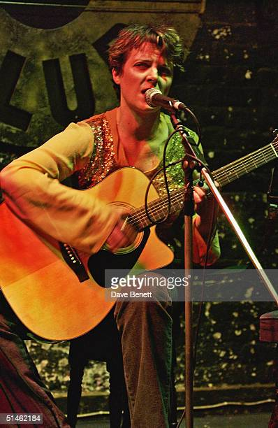 Abigail Hopkins performs at The Twelve Bar Club in Soho on March 9 2004 in London