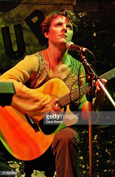 Abigail Hopkins performs in her musical showcase held at Twelve Bar Club on 9th March 2004 in London