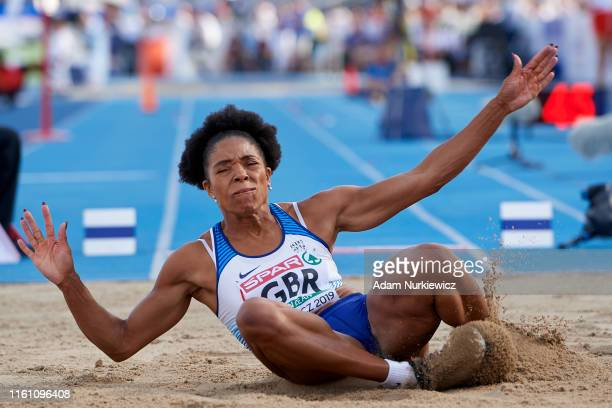 Abigail Irozuru from Great Britain Northern Ireland competes in womens long jump final while European Athletics Team Championships Super League...