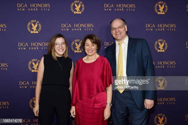 Abigail Klobuchar Bessler Amy Klobuchar and John Bessler attends the 2018 DGA Honors at DGA Theater on October 18 2018 in New York City