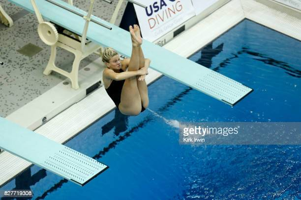 Abigail Knapton competes during the Senior Women's 1m Semi Final during the 2017 USA Diving Summer National Championships on August 8 2017 in...