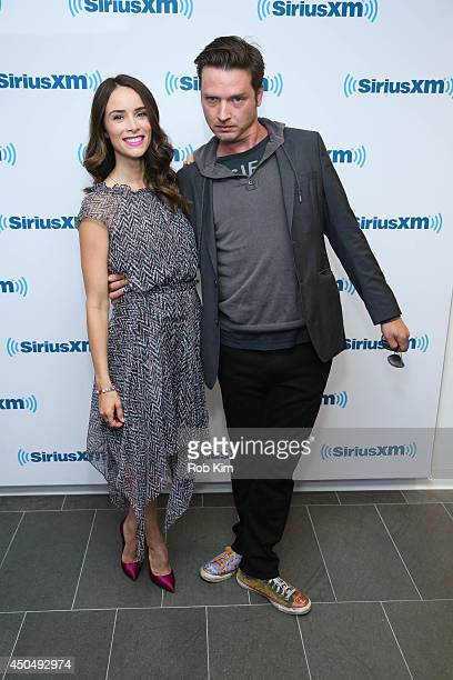 Abigail Leigh Spencer and Aden Young visit at SiriusXM Studios on June 12 2014 in New York City