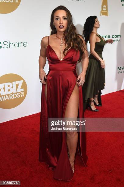 Abigail Mac attends the 2018 XBIZ Awards on January 18 2018 in Los Angeles California