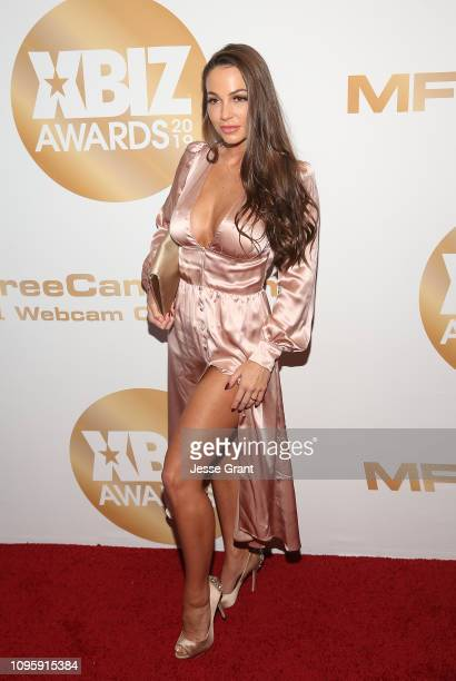 Abigail Mac attends the 2019 XBIZ Awards on January 17, 2019 in Los Angeles, California.