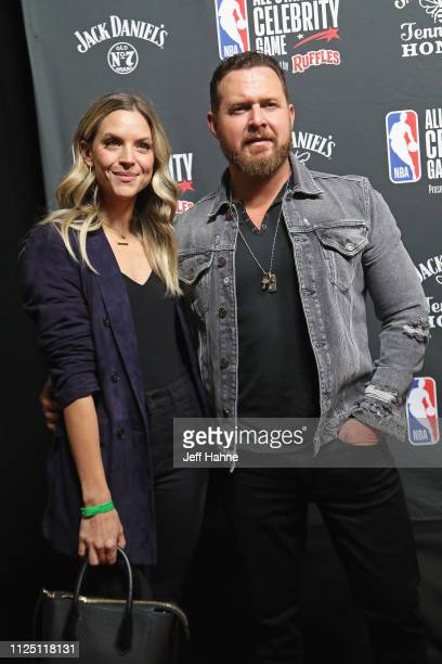 Abigail Ochse and A J Buckley attend the 2019 NBA AllStar Celebrity Game at Bojangles Coliseum on February 15 2019 in Charlotte North Carolina