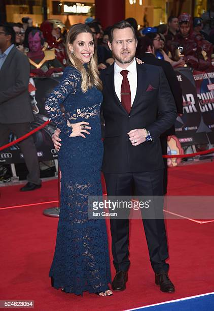 Abigail Ochse and AJ Buckley arrive for UK film premiere Captain America Civil War at Vue Westfield on April 26 2016 in London England