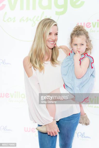 Abigail Ochse and daughter Willow attend the Grand Opening Party For WeVillage at WeVillage on March 18 2017 in Los Angeles California