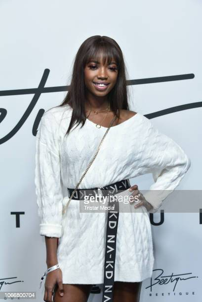 Abigail Odoom during the launch of Beetique by Dagi Bee at Spindler Klatt on November 29 2018 in Berlin Germany